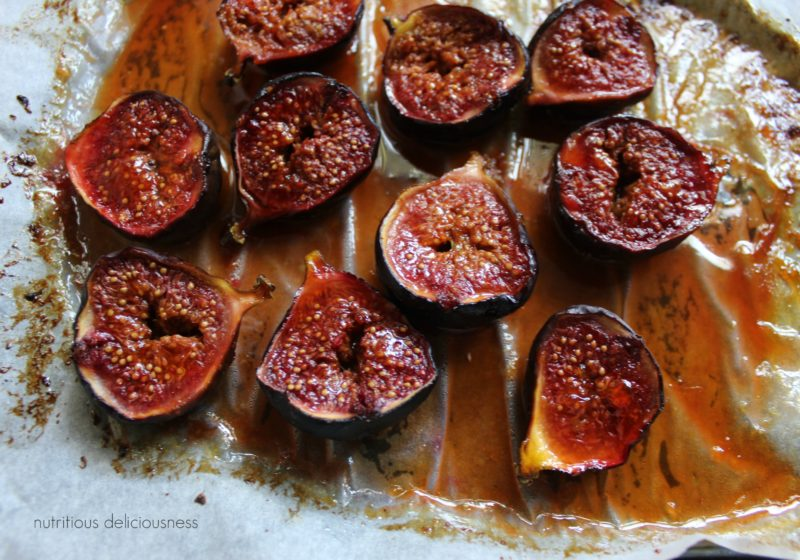 Roasted honey orange figs