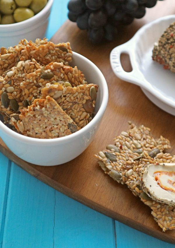 Healthy 4-Seed Crackers