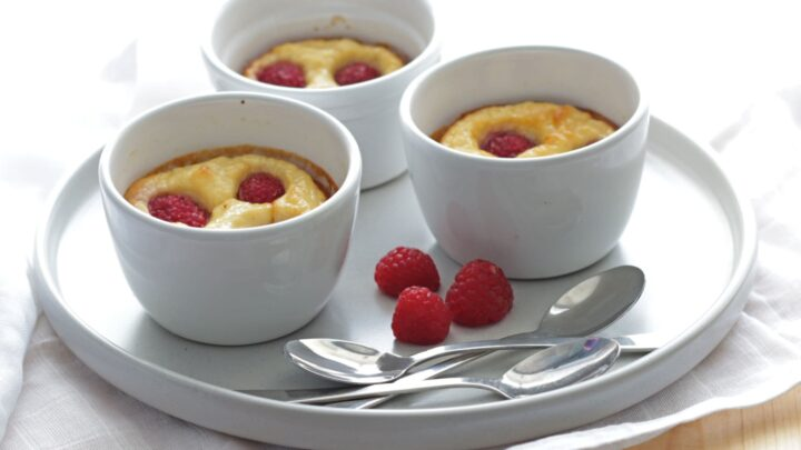 Baked Ricotta Raspberry Puddings Nutritious Deliciousness